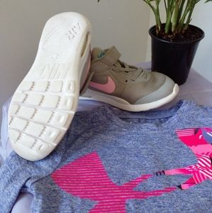 Girls size 11C NIKE AIR + UNDER ARMOUR shirt